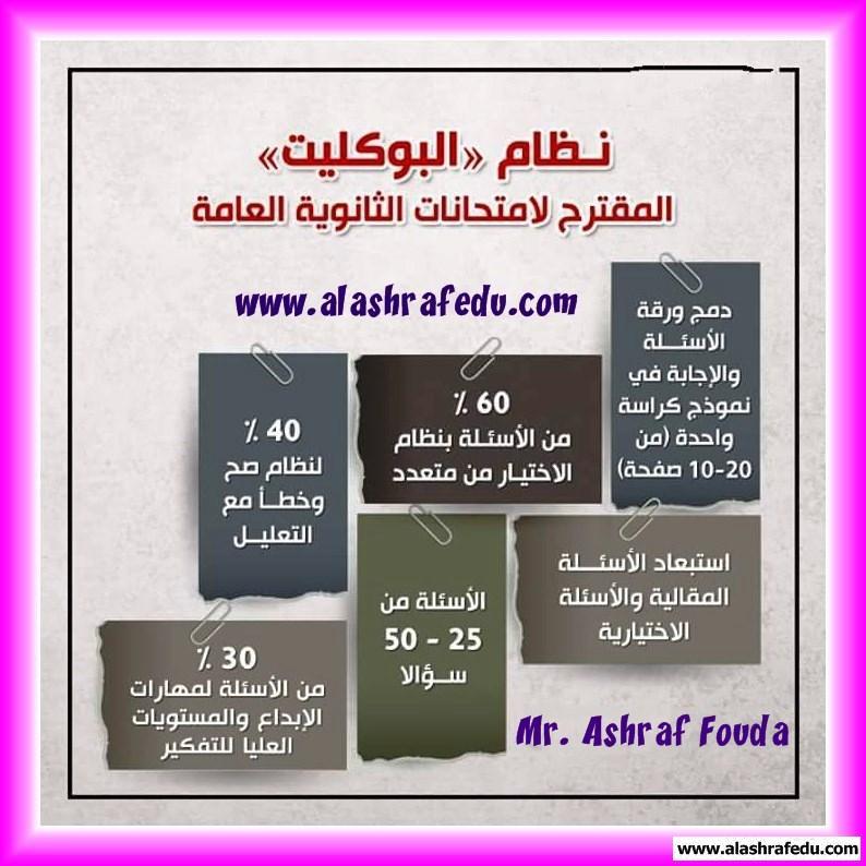 نظام البوكليت المقترح لإمتحانات الثانويه www.alashrafedu.com1