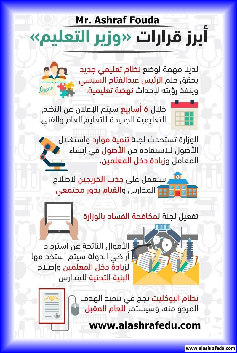 أبرز قرارات وزير التربيه التعليم 2018 www.alashrafedu.com1