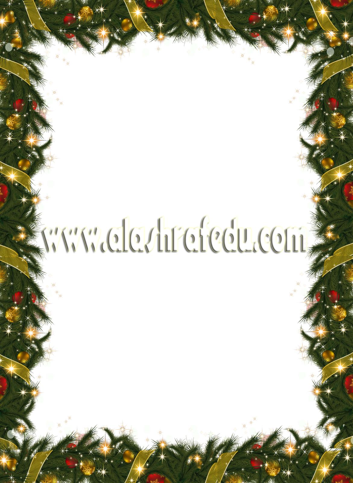 Christmas Holiday Frame With Garland 2018 www.alashrafedu.com1