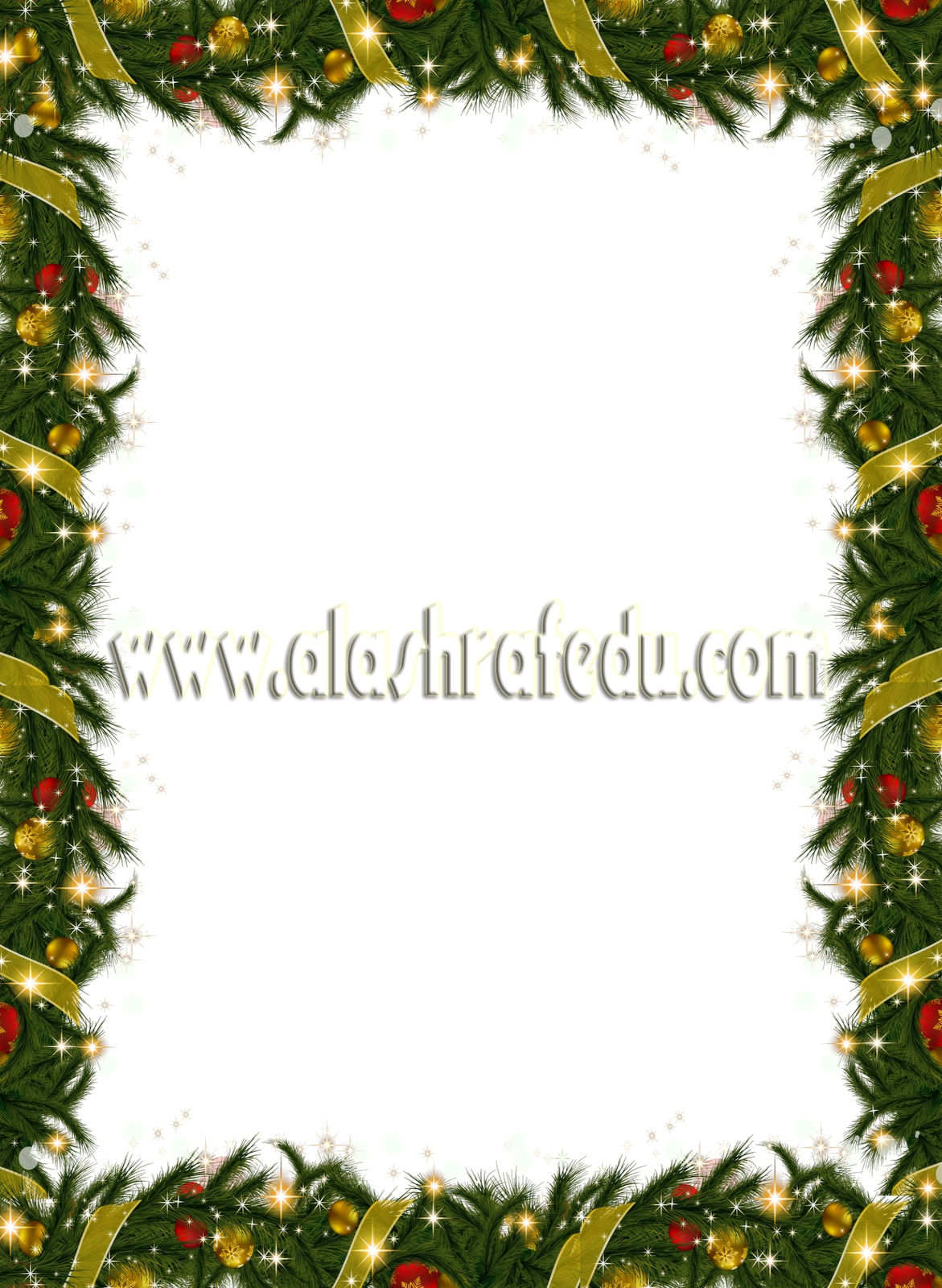 Christmas Holiday Frame With Garland 2019 www.alashrafedu.com1