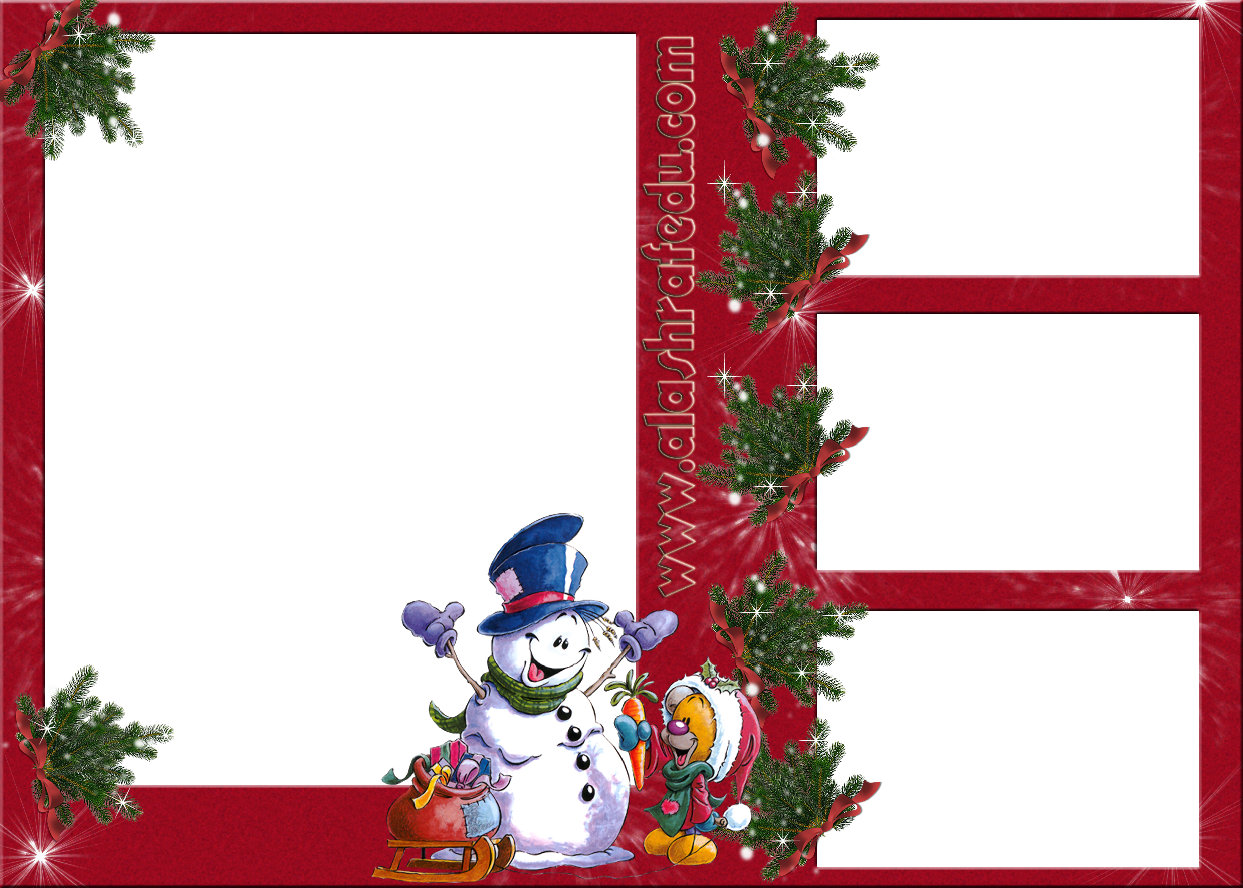 Christmas Snowman Transparent Photo Frame www.alashrafedu.com1