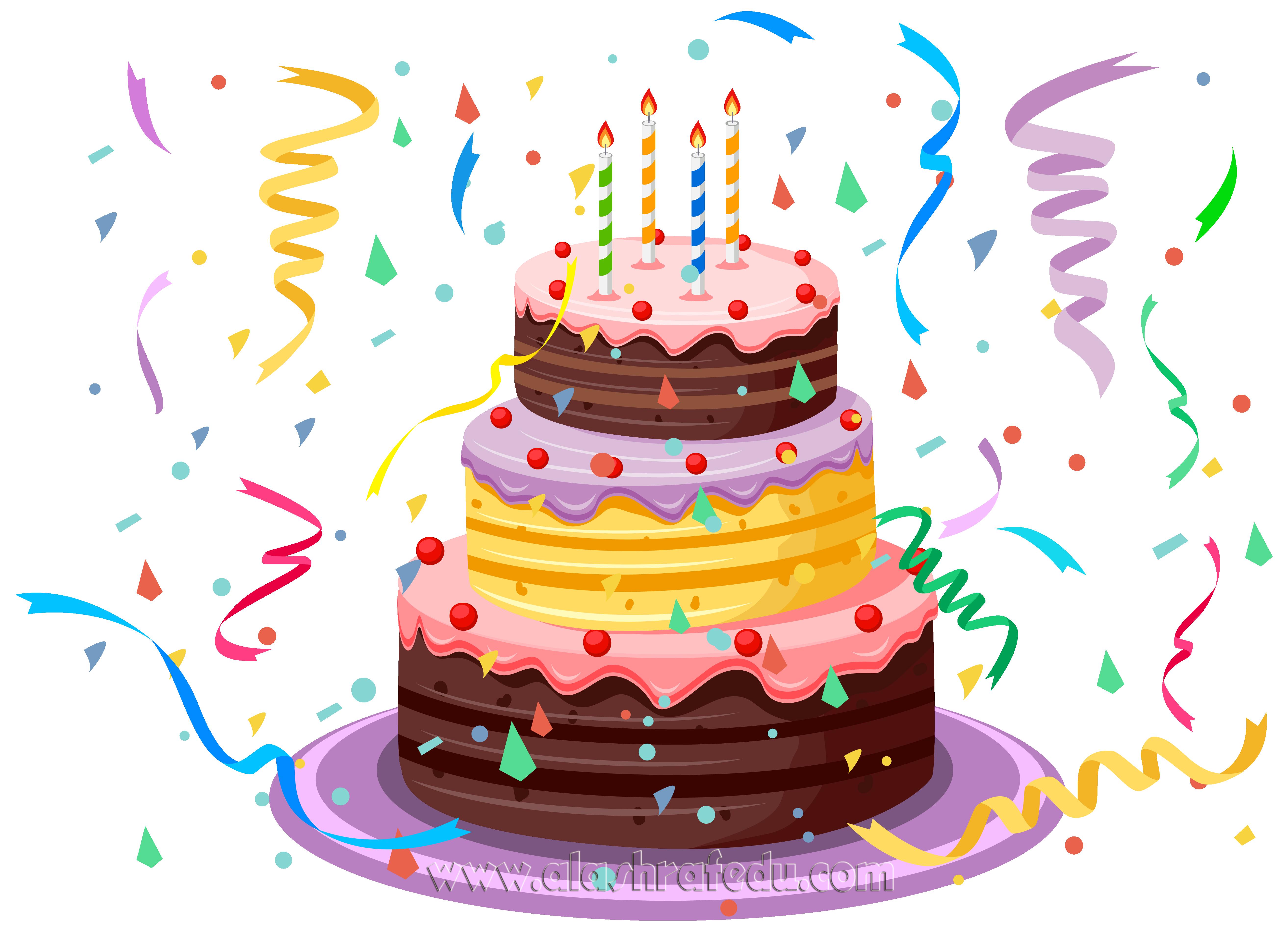 Birthday Cake With Confetti 2019 www.alashrafedu.com1