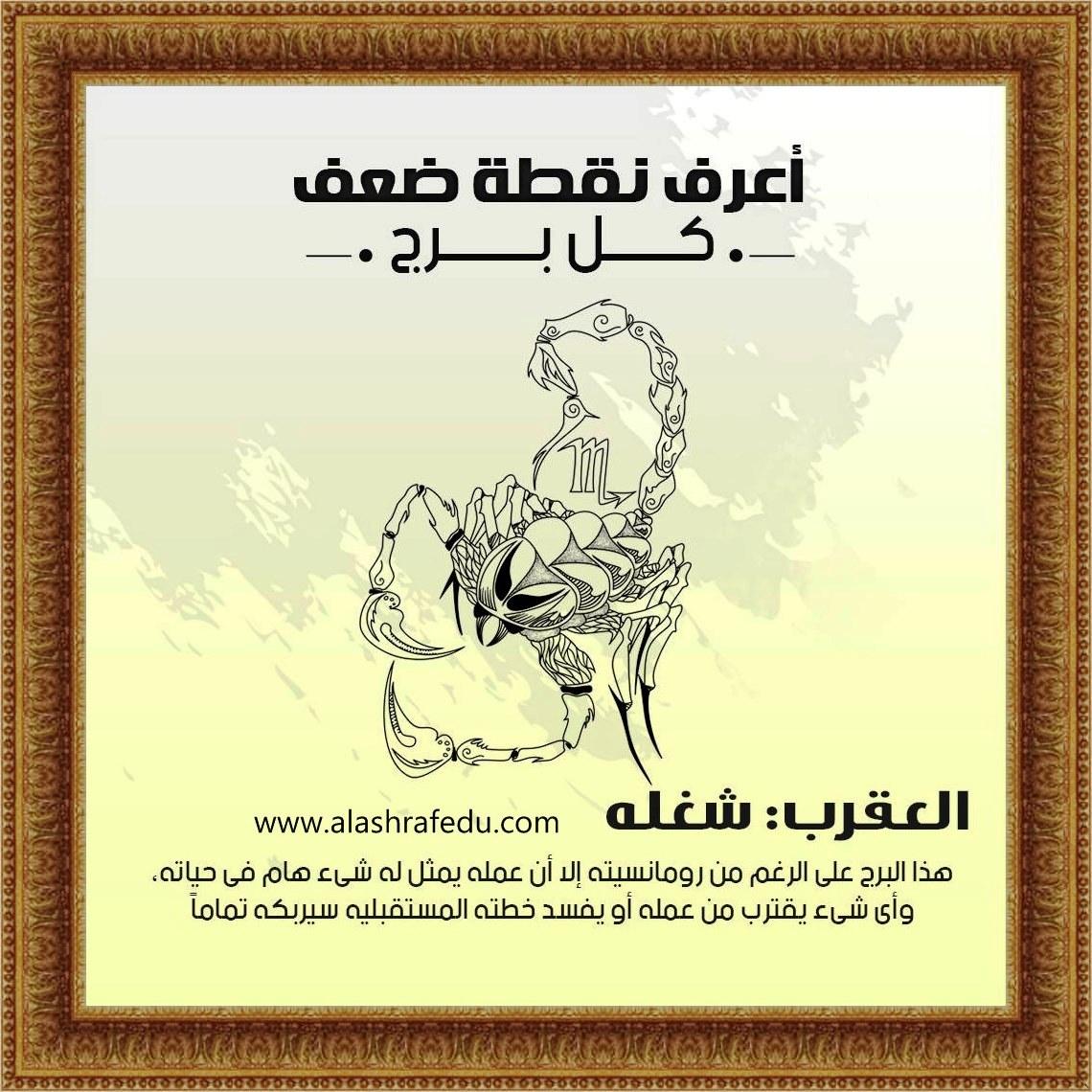 أعرف نقطة 2020 العقرب شغله www.alashrafedu.com1