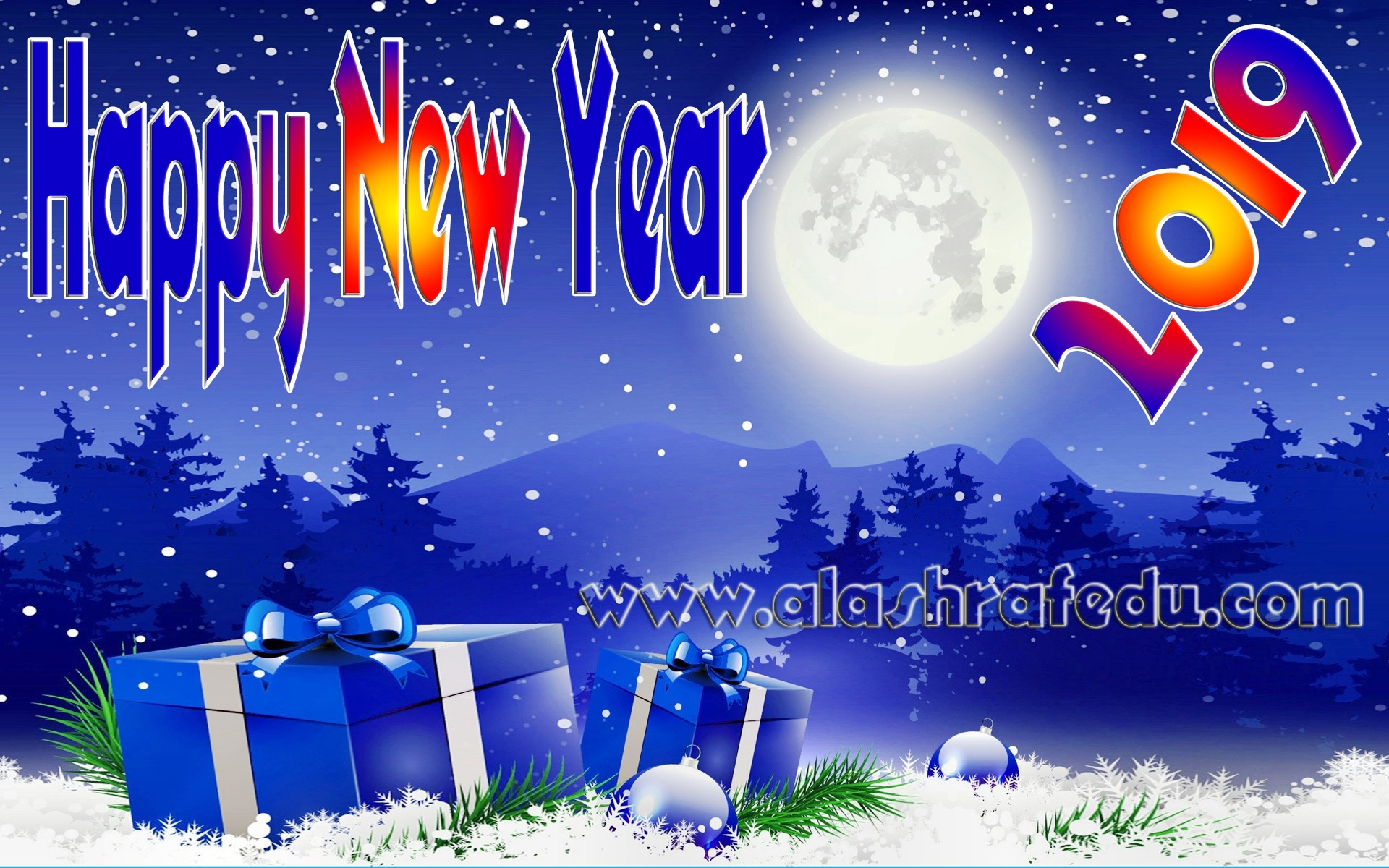 Christmas Winter Moon Gifts Wallpaper Desktop 2019 www.alashrafedu.com1